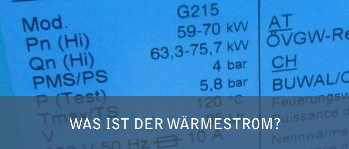 Was ist der Wärmestrom - die Leistung in der Heizungstechnik