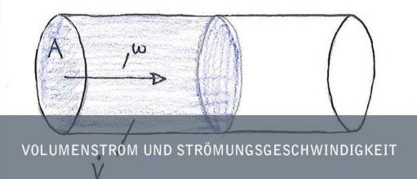 Volumenstrom und Strömungsgeschwindigkeit
