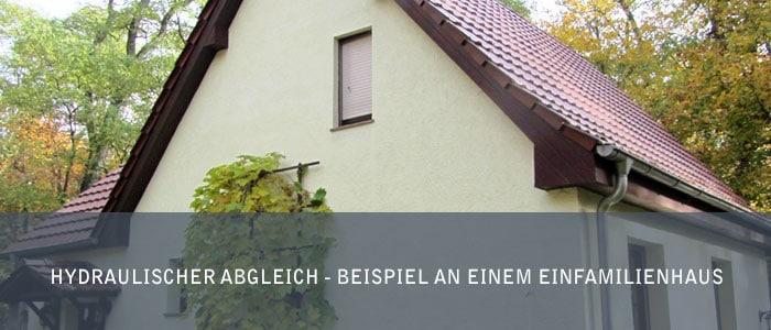 Hydraulischer Abgleich - Beispiel an einem Einfamilienhaus