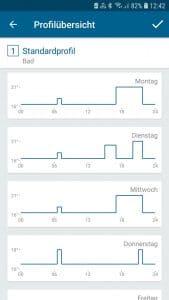 Abbildung 7: Homematic IP Software - Übersicht eines Wochenzeitprogramms