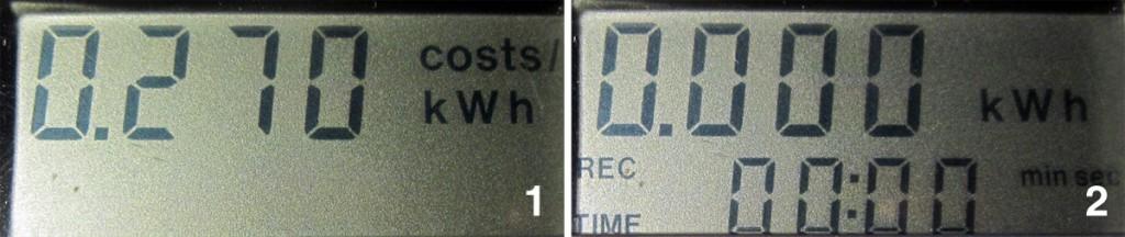 Kosteneinstellung und Reset im Energiekostenmessgerät
