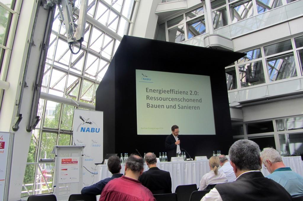Abbildung 1: Veranstaltung des NABU auf den Berliner Energietagen 2014