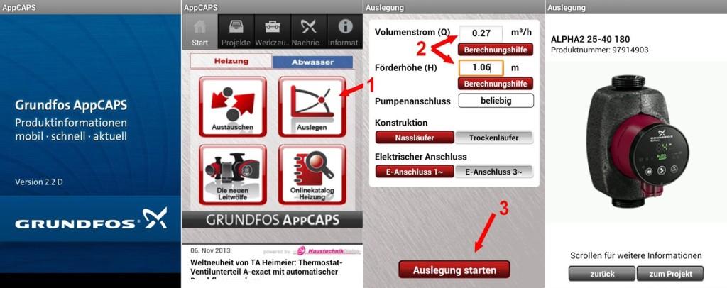 Pumpenauslegung mit Grundfos AppCAPS