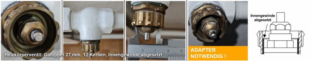 Heizkörperventil Gampper M20 über 10 mm Tiefe (12 Kerben), Quelle: André Bode per E-Mail