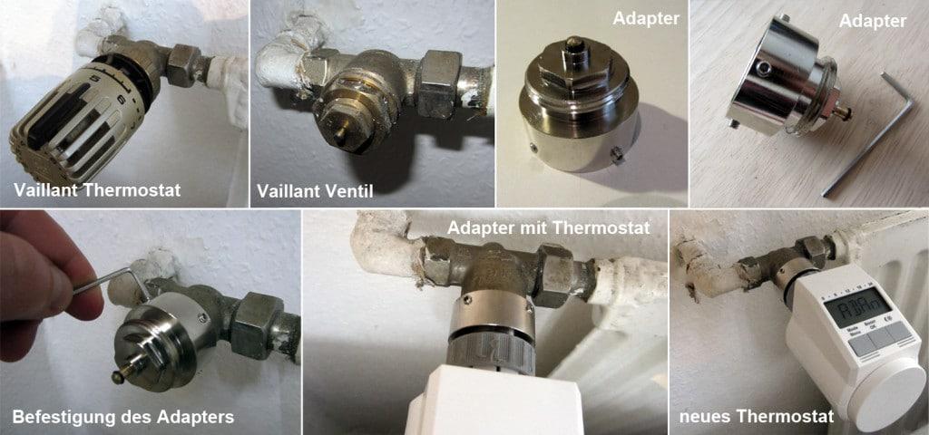 Anleitung: Adapter und Thermostat montieren