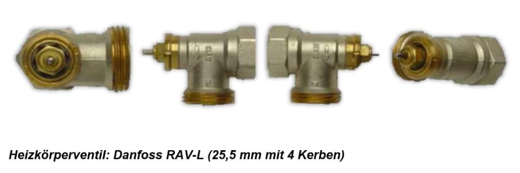 Heizkoerperventil Danfoss RAVL