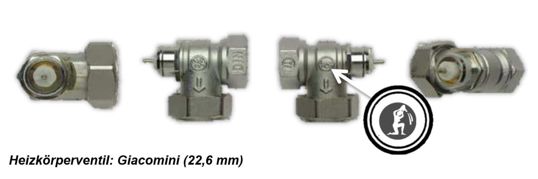 Heizkörperventil Giacomini 22,6mm