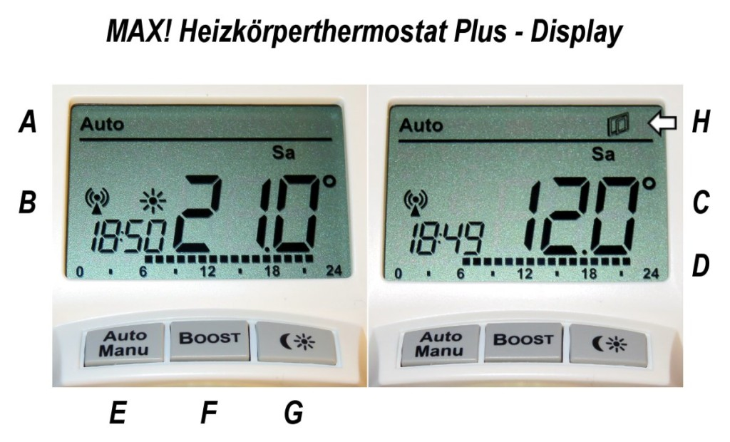 MAX! Heizkoerperthermostat Plus - Ansicht Display