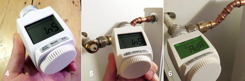 Installation MAX! Heizkörperthermostat Plus - Montage des neuen Thermostates