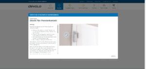 MyDevolo - Verbindung erfolgreich der Tür- und Fensterkontakte
