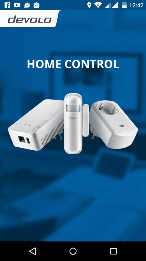Devolo Home Control App - Startbildschirm