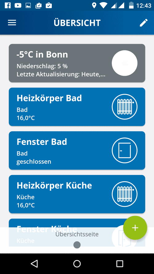 Devolo Home Control App - Übersicht