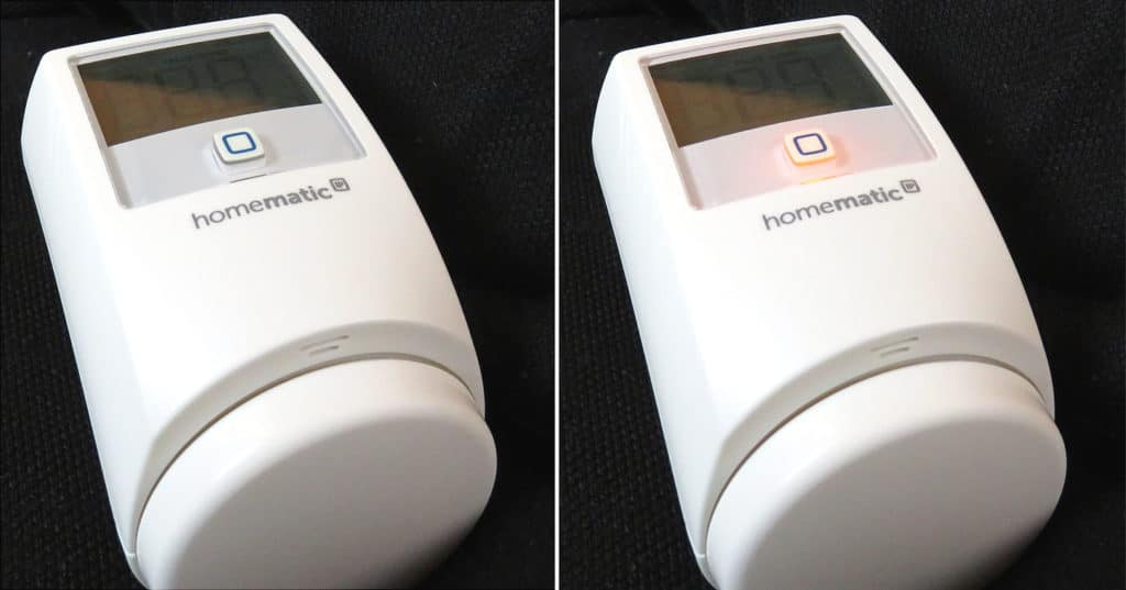 HomeMatic IP - Heizkörperthermostat Systemtaste mit LED