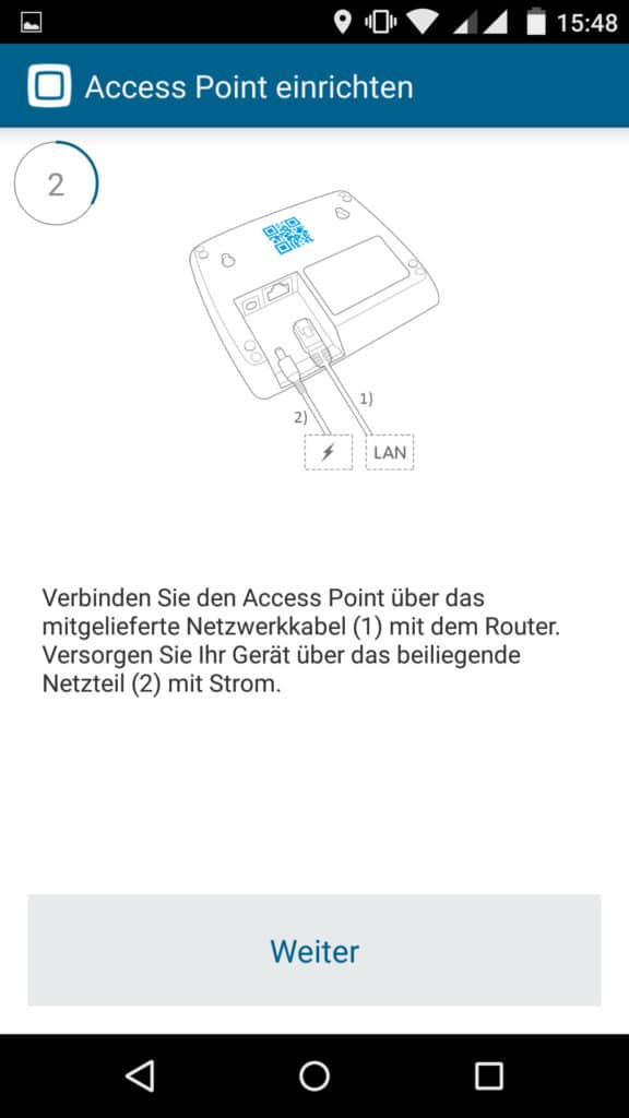 Homematic IP App Accesspoint installieren Schritt 2