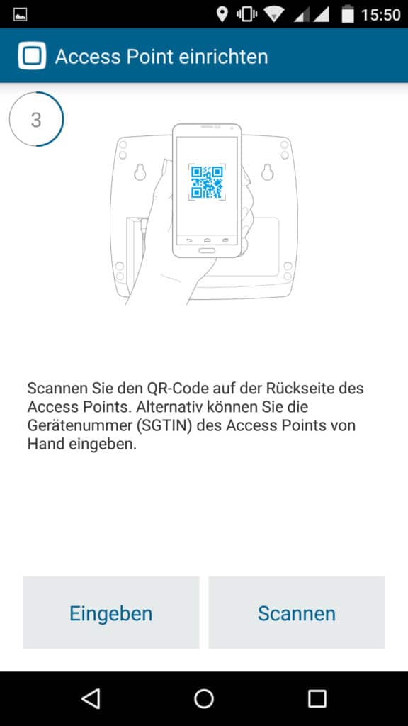 Homematic IP App Accesspoint installieren Schritt 3