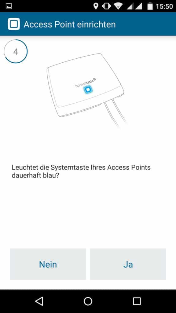 Homematic IP App Accesspoint installieren Schritt 4