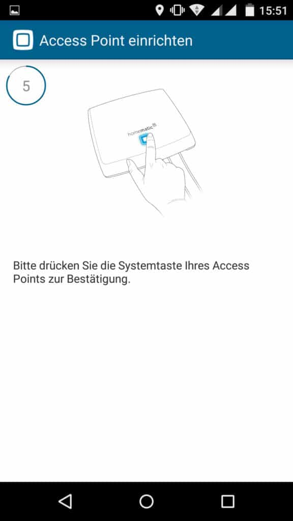 Homematic IP App Accesspoint installieren Schritt 5