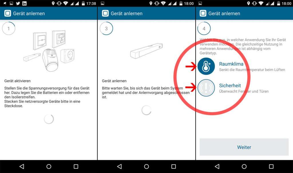 HomematicIP App - Fensterkontakte installieren