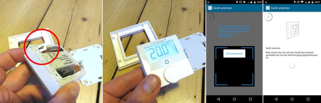 Installation des Homematic IP Raumthermostats
