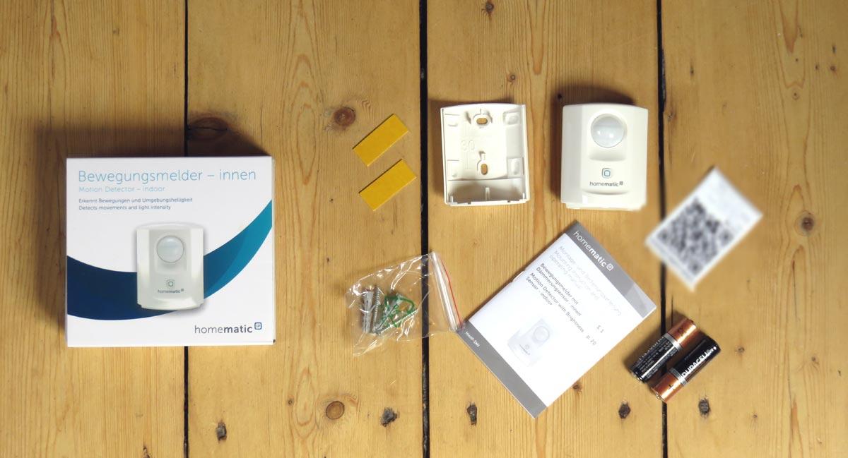 Homematic IP Bewegungsmelder Innen mit Verpackung