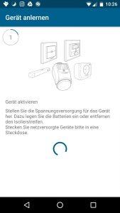 Homematic IP App Schalt-Mess-Steckdose - Gerät aktivieren