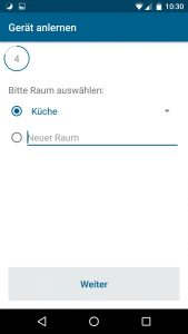 Homematic IP App Schalt-Mess-Steckdose - Raum wählen