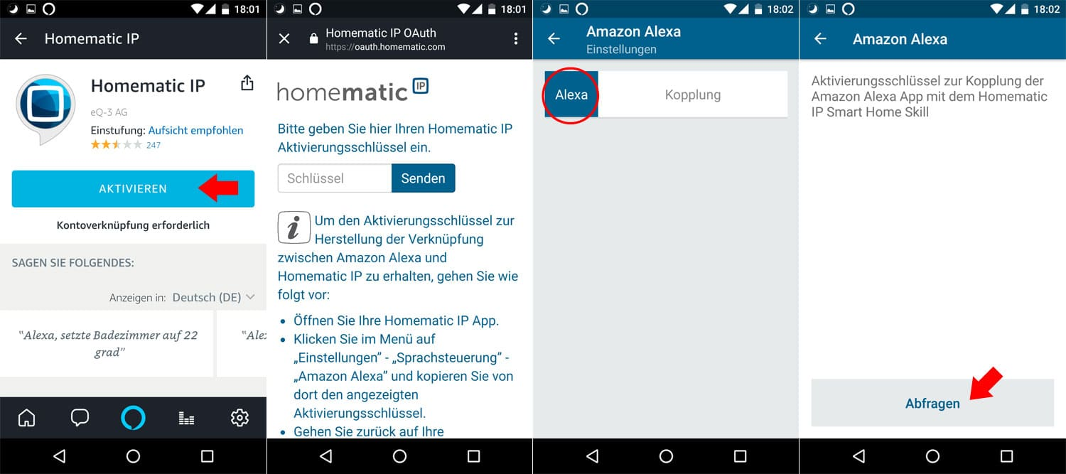 Homematic IP - Alexa Integration - Schritt 2