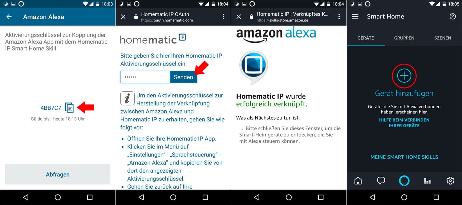 Homematic IP - Alexa Integration - Schritt 3