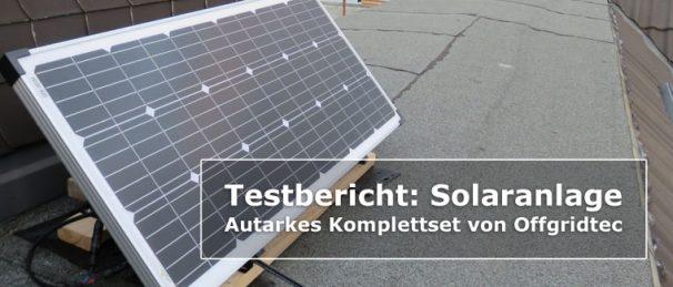 Testbericht - Solaranlage Komplett Titelbild