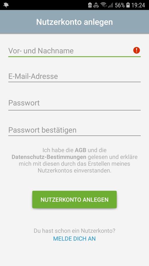 tado° App daten für Nutzerkonto