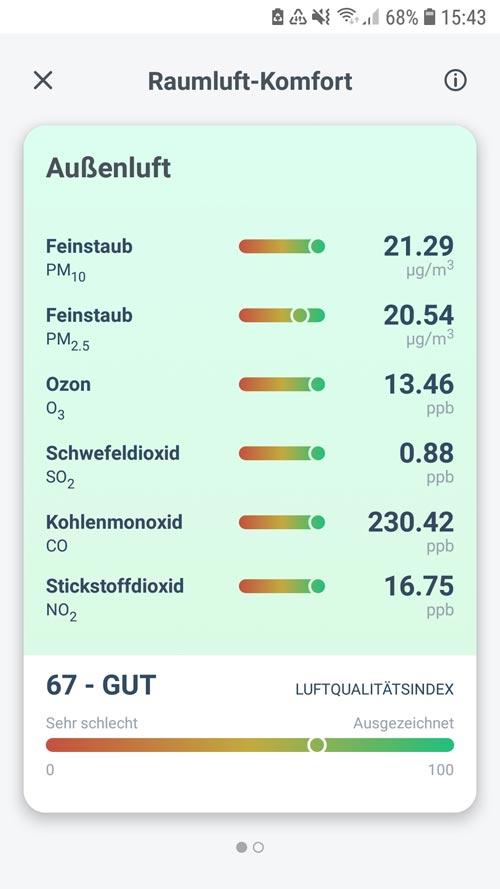 tado° App - Außenluftqualität für die Umgebung deines zu Hauses