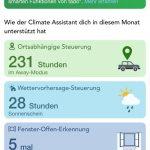 tado° App - Übersicht Energieeinsparungen