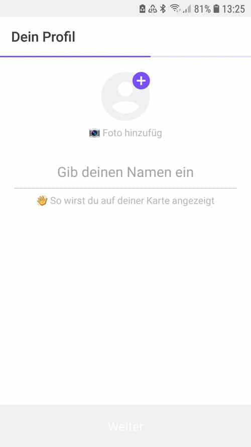 Life360 App - Profilnamen eingeben