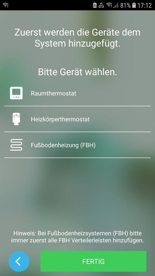 Wiser App - Heizkörperthermostat hinzufügen