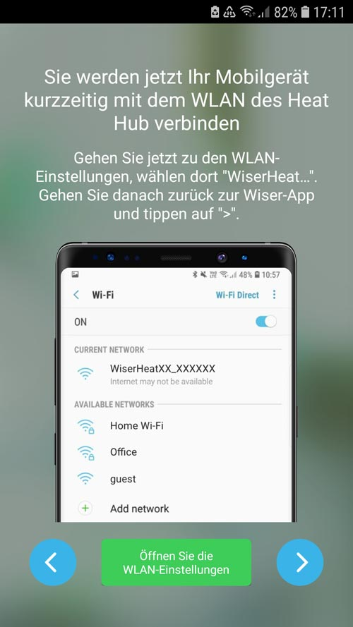Wiser App - Heat Hub Anleitung fürs WIFI