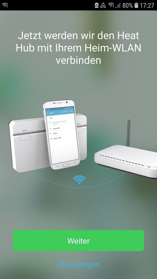 Wiser App - Heat Hub mit W-LAN verbinden