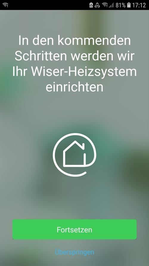 Wiser App - Anlernen weiterer Geräte