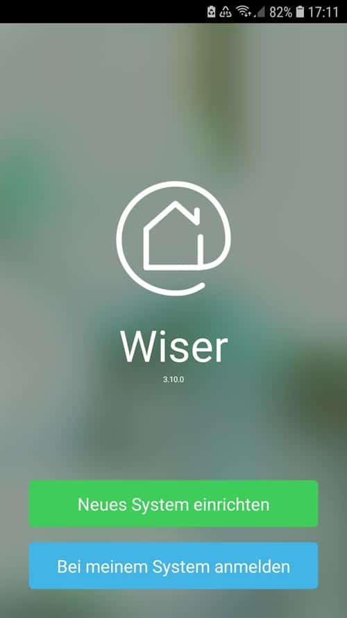 Wiser App - Neues Systemeinrichten