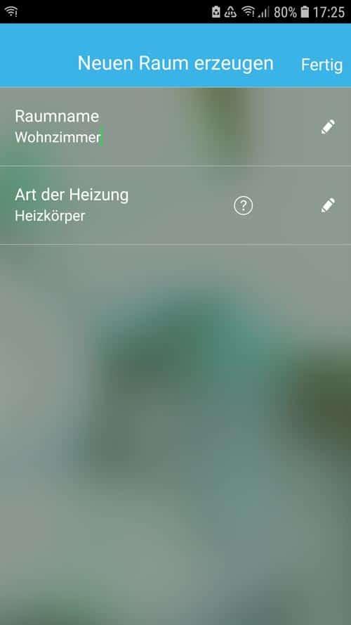 Wiser App - Raum erstellen