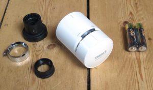 Wiser Heizkörperthermostat mit Adapterset und Batterien