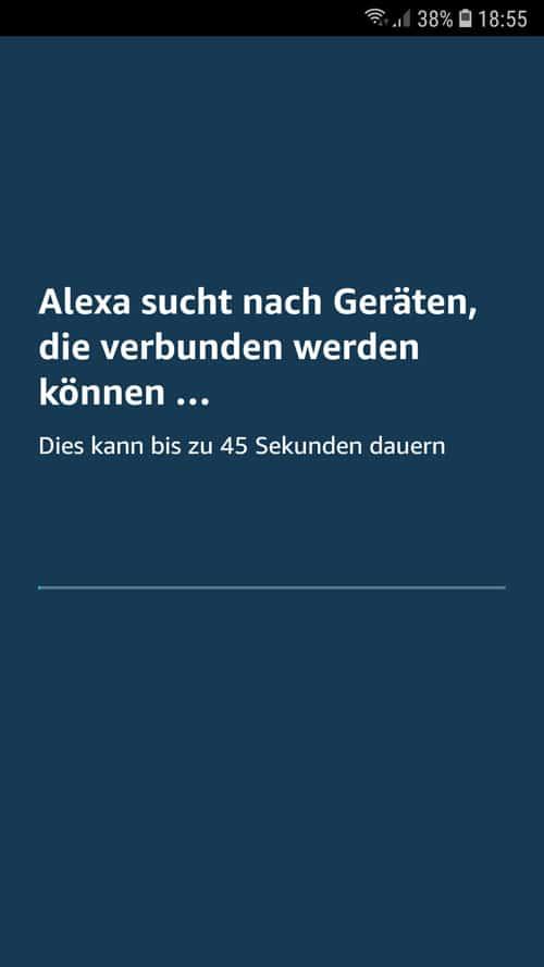 Alexa App - Wiser Geräte werden gesucht