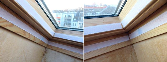Klebeband der Fensterabdichtung für mobile Klimaanlage anbringen