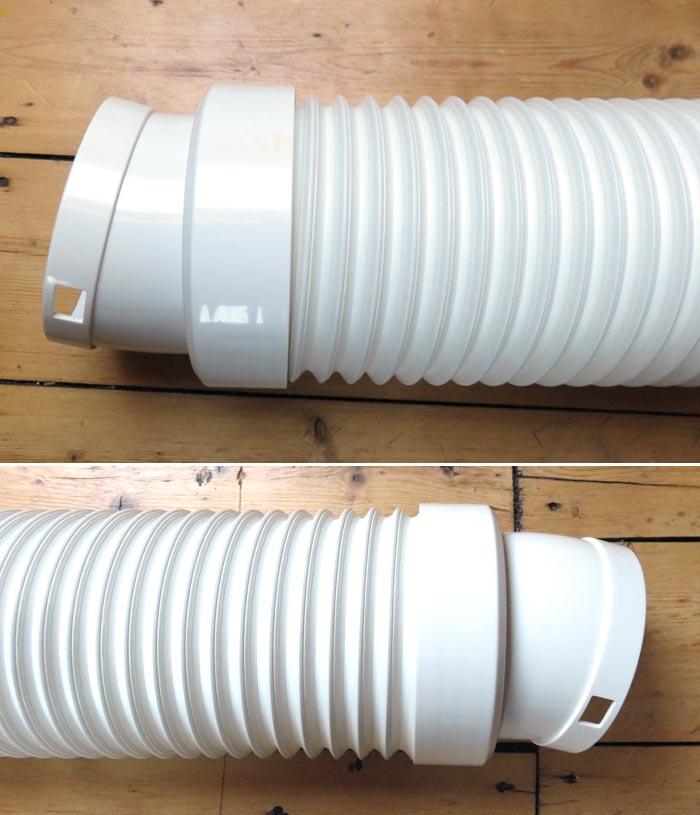 Abluftschlauch für mobile Kälteanlage vorbereiten