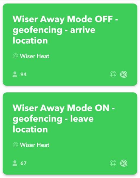 IFTTT App - Benötigte Anwendung: Geofencing On und Off