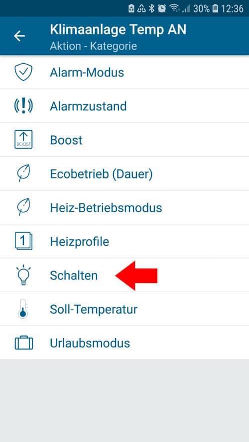 """Homematic IP - Automatisierung - Aktion """"Schalten"""""""
