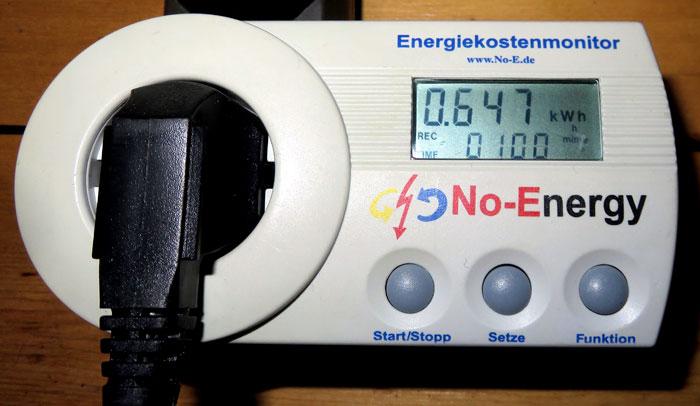 Energieverbrauch DeLonghi Silent PAC EX100