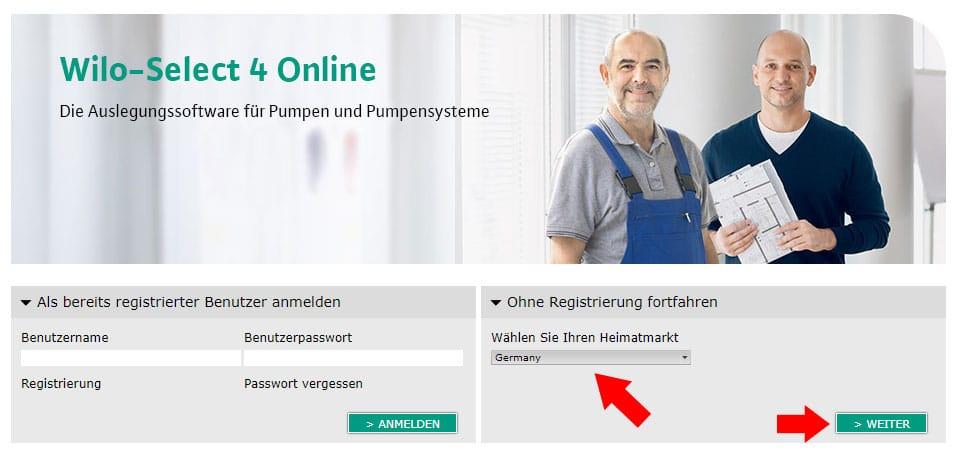 Startseite Wilo Select