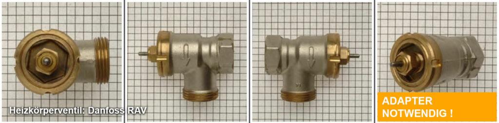 Heizkörperventil Danfoss RAV, Quelle: eQ-3 AG/Staudigl