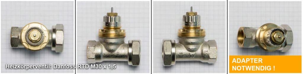 Heizkörperventil Danfoss RTD M30 x 1,5 - Quelle: eQ-3 AG/Staudigl