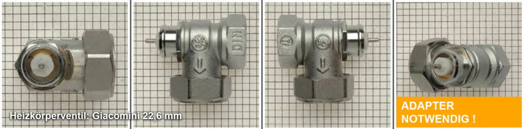 Heizkörperventil Giacomini 22,6 mm, Quelle: eQ-3 AG/Staudigl